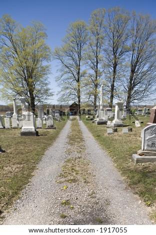 Cemetery Driveway - stock photo
