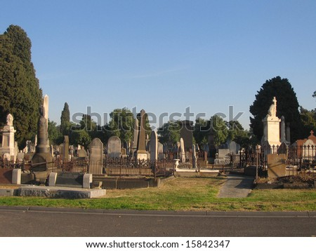 Cemetery in Melbourne - stock photo