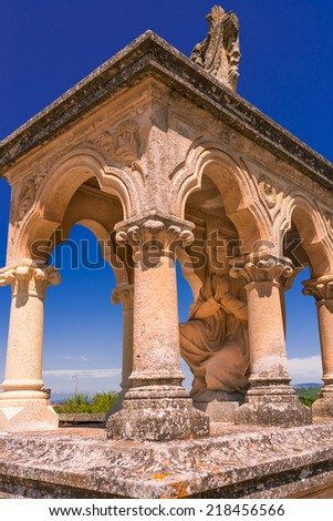 cemetery in Provence  - stock photo