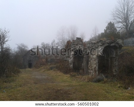 Cemetery near Orthodox monastery, Armenia
