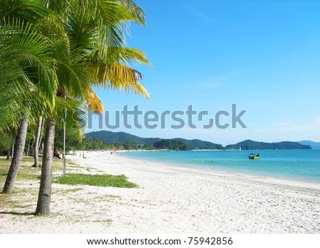 Cenang beach, Langkawi island, Malaysia - stock photo