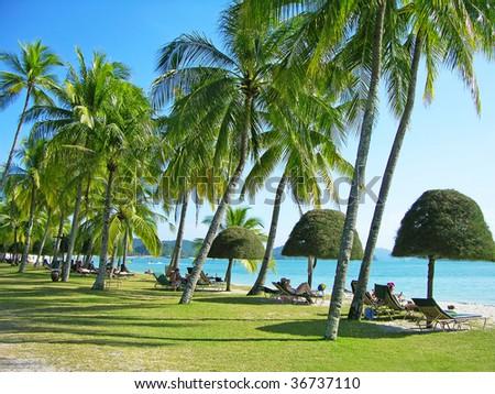 Cenang beach, Langkawi, Malaysia - stock photo