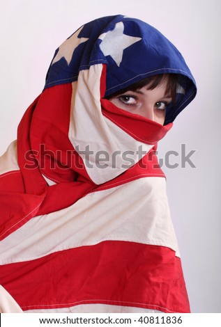 Censor and freedom of speech concept. Media prisoner and human rights concept. - stock photo