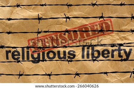 Censored religious liberty - stock photo