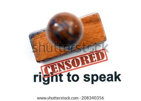 Censored right to speak - stock photo