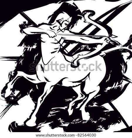 centaur - stock photo