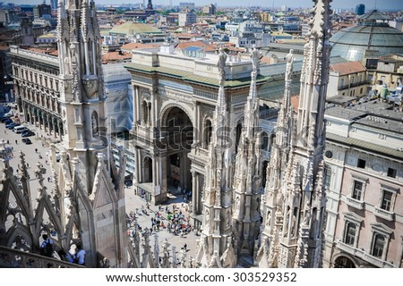Center of Milan. Arch. Passage - stock photo