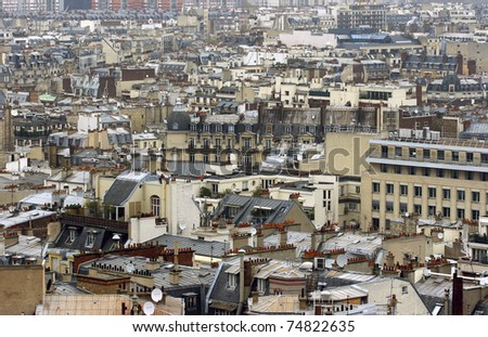 Center of Paris from the top