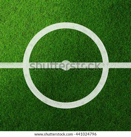 Center of soccer field .Illustration  - stock photo