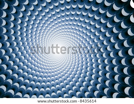 centered vortex of shapes (optical illusion) - stock photo