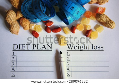centimeter diet plan - stock photo