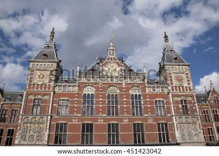 Centraal - Central Railway Station; Amsterdam; Holland; Netherlands