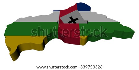 Central African Republic election map with ballot paper illustration - stock photo
