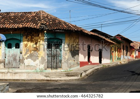 Central America, Leon - the colonial Spanish city in Nicaragua has the larges cathedral in Central America and the colorful architecture