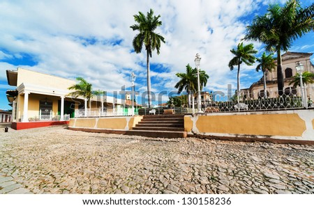 central area of  Trinidad on a sunny day - stock photo