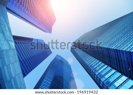 Central Business District in Singapore. Banking in Singapore is a service industry that has grown significantly in recent years. Singapore is  home to over 200 banks. - stock photo