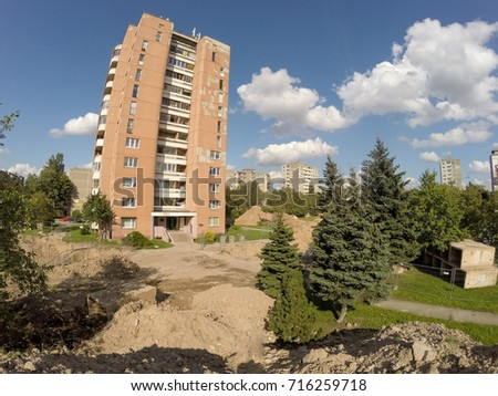 Central Heating System Renovation Works Kaunas Stock Photo (Royalty ...