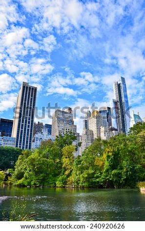 Central Park in New York. - stock photo