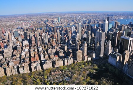 Central Park & Lower East Side, New York - stock photo