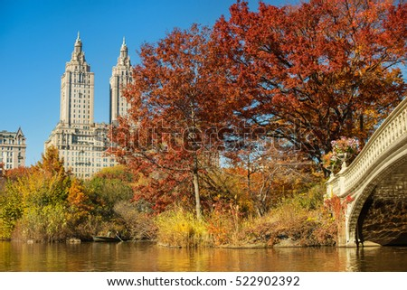 Central park new york city autumn