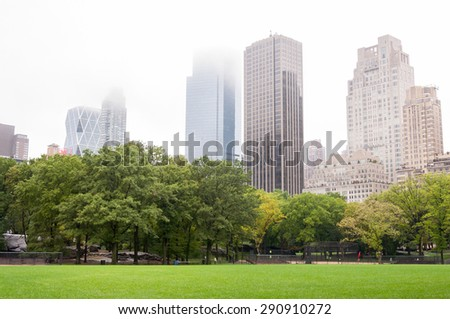 Central Park view in Manhattan, New York - stock photo