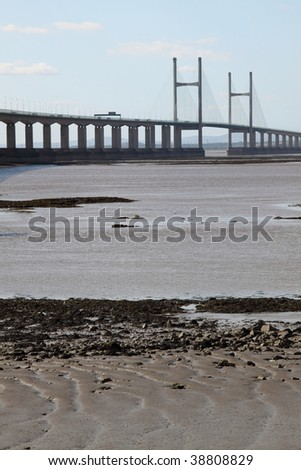 Central portion of the second Severn crossing between England and Wales