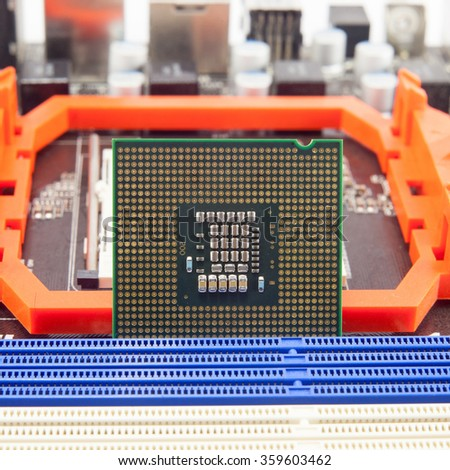 Central Processing Unit. CPU. isolated on a white background - stock photo