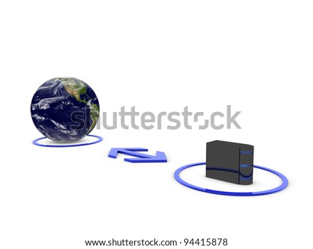 central server - stock photo