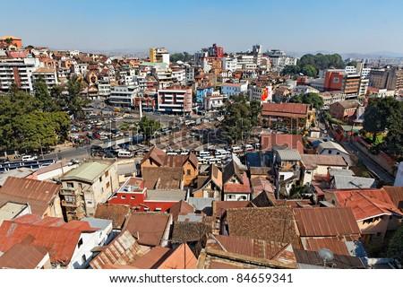 Centre Vile d'Antananarivo, carrefour d'Ambohijatovo - stock photo