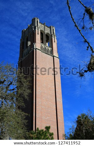 Century Tower on the campus of the University of Florida - stock photo