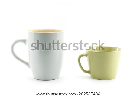 Ceramic coffee cup - stock photo