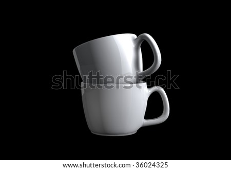 ceramic cup - stock photo
