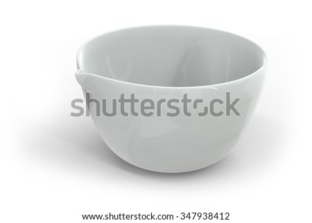 Ceramic cup isolated on white - stock photo