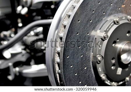 Ceramic disc brake. - stock photo