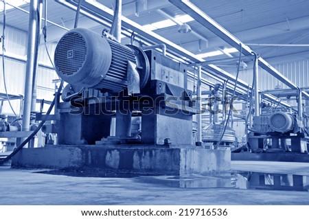Ceramic factory equipment  - stock photo
