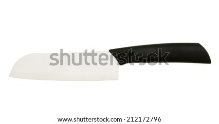 Ceramic knife Isolated on white background - stock photo