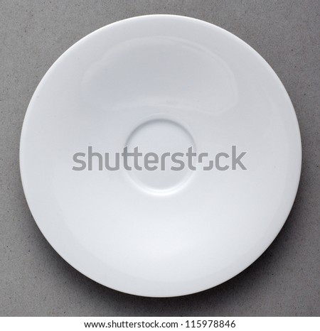 Ceramic Plate on gray background