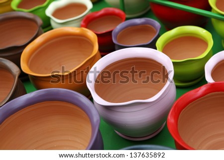 ceramic pots - stock photo