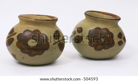 Ceramic pots - stock photo