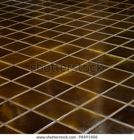 Ceramic tile floor - stock photo