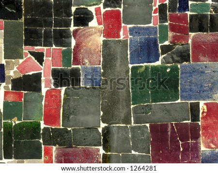 Ceramic tile mosaic.