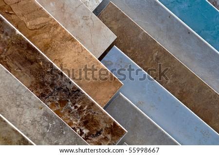 Ceramic Tile Store Samples - stock photo