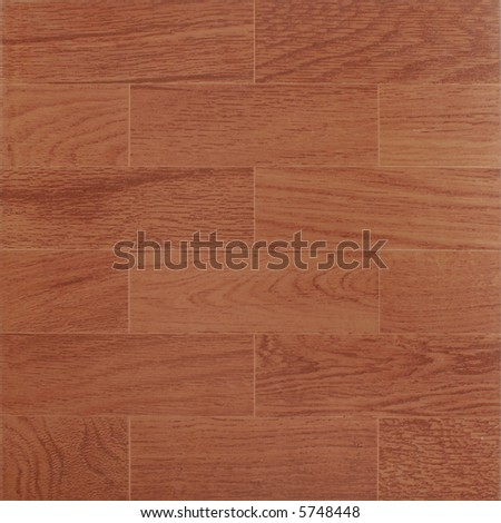 Ceramic tile with red wood texture - stock photo