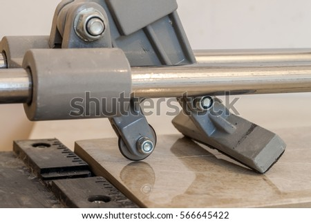 Ceramic Tiles Tools Tiler Floor Tiles Stock Photo Royalty Free