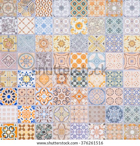 Ceramic wall tile patterns