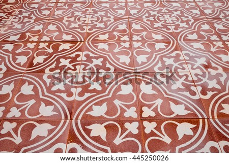 Ceramic tiles patterns  background - stock photo