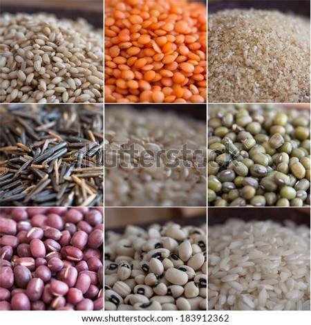 Cereal and legume composition. - stock photo