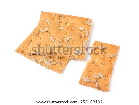 Cereal biscuits isolated on a white background - stock photo