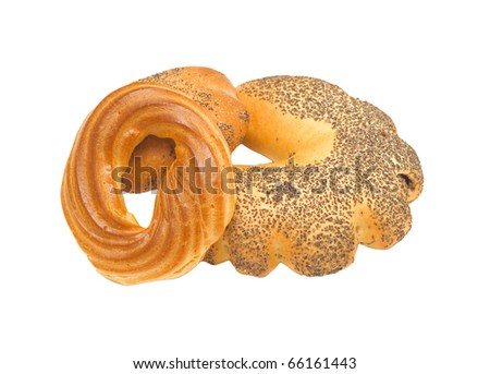 Cereal bread isolated on white
