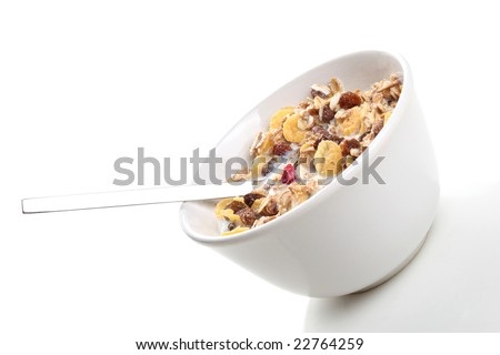 cereal breakfast - stock photo